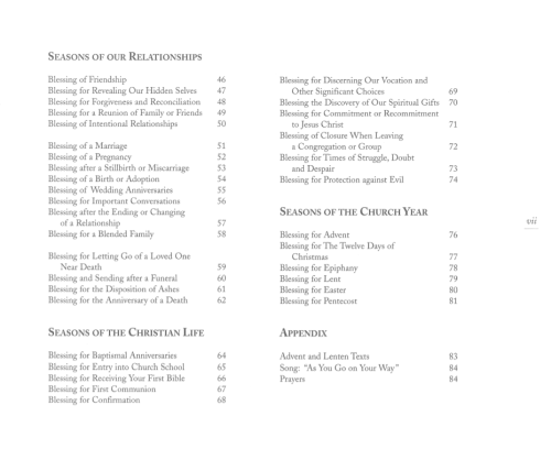 FEAS Table of Contents 2